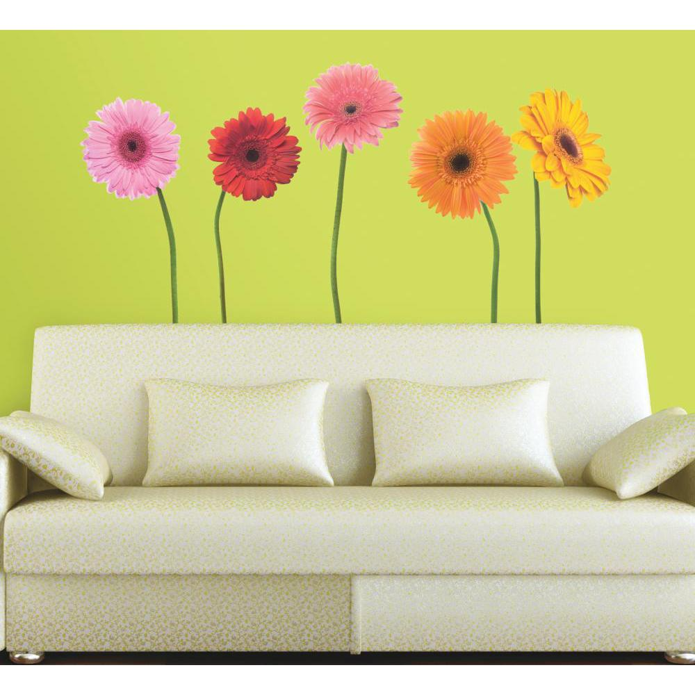 Gerber Daisies Peel And Stick Decal