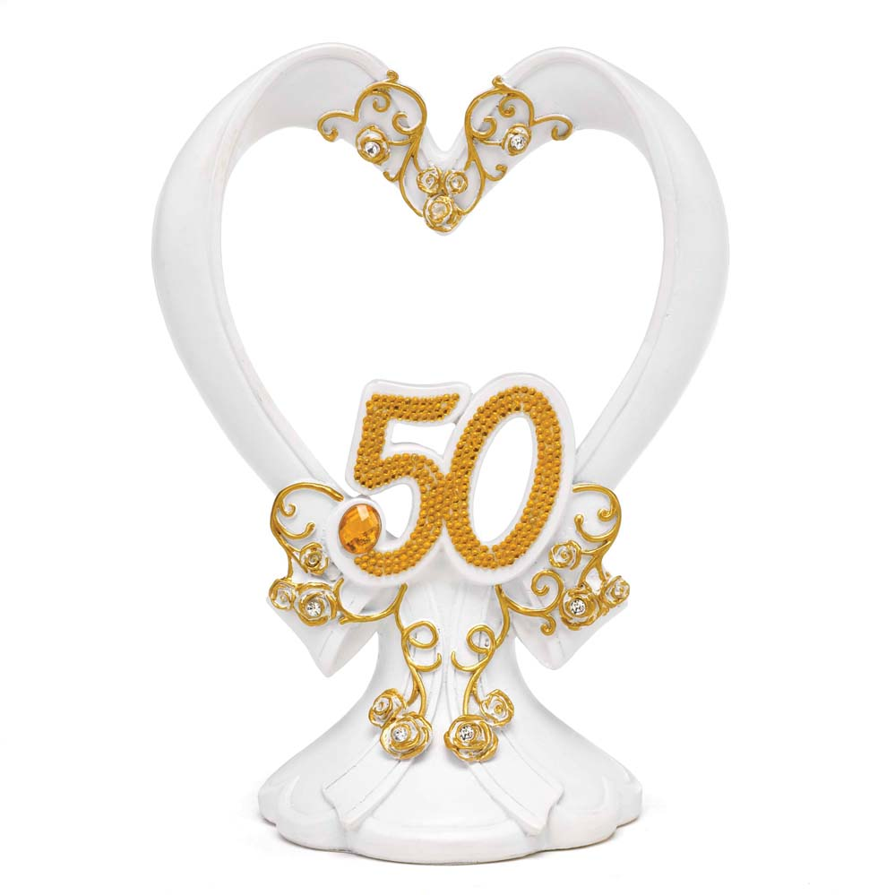 Gilded 50th Anniversary Cake Top