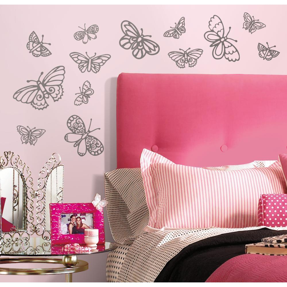 Glitter Butterflies Decal