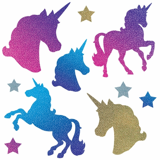 Glittery Unicorn Cutouts