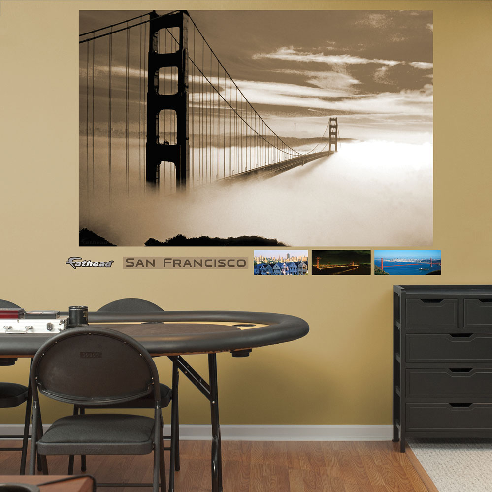 Golden Gate Bridge Fog Mural REALBIG Wall Decal