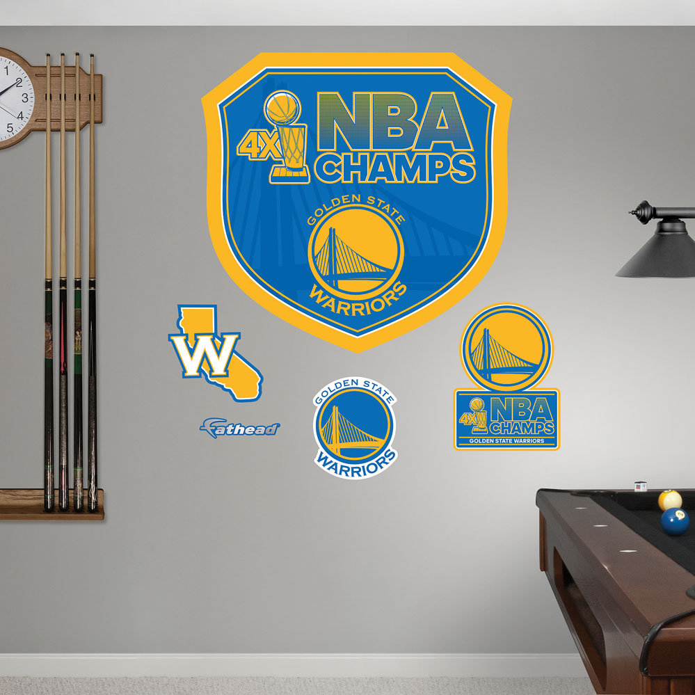 Golden State Warriors 2015 NBA Champions Decals