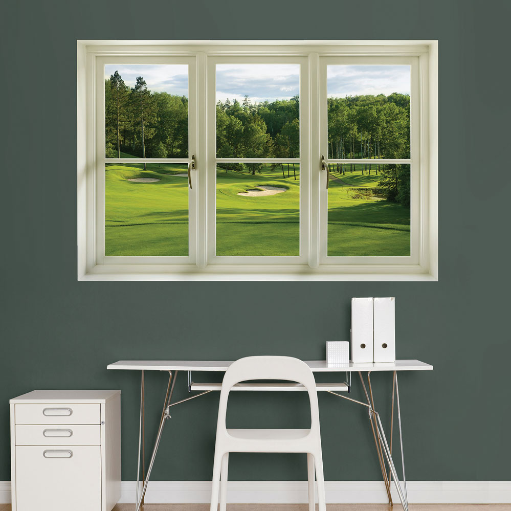 Golf Tee Box: Instant Window REALBIG Wall Decal