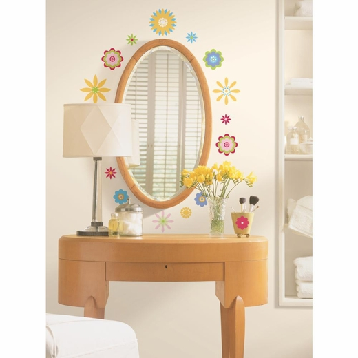 Graphic Flowers Peel And Stick Decal