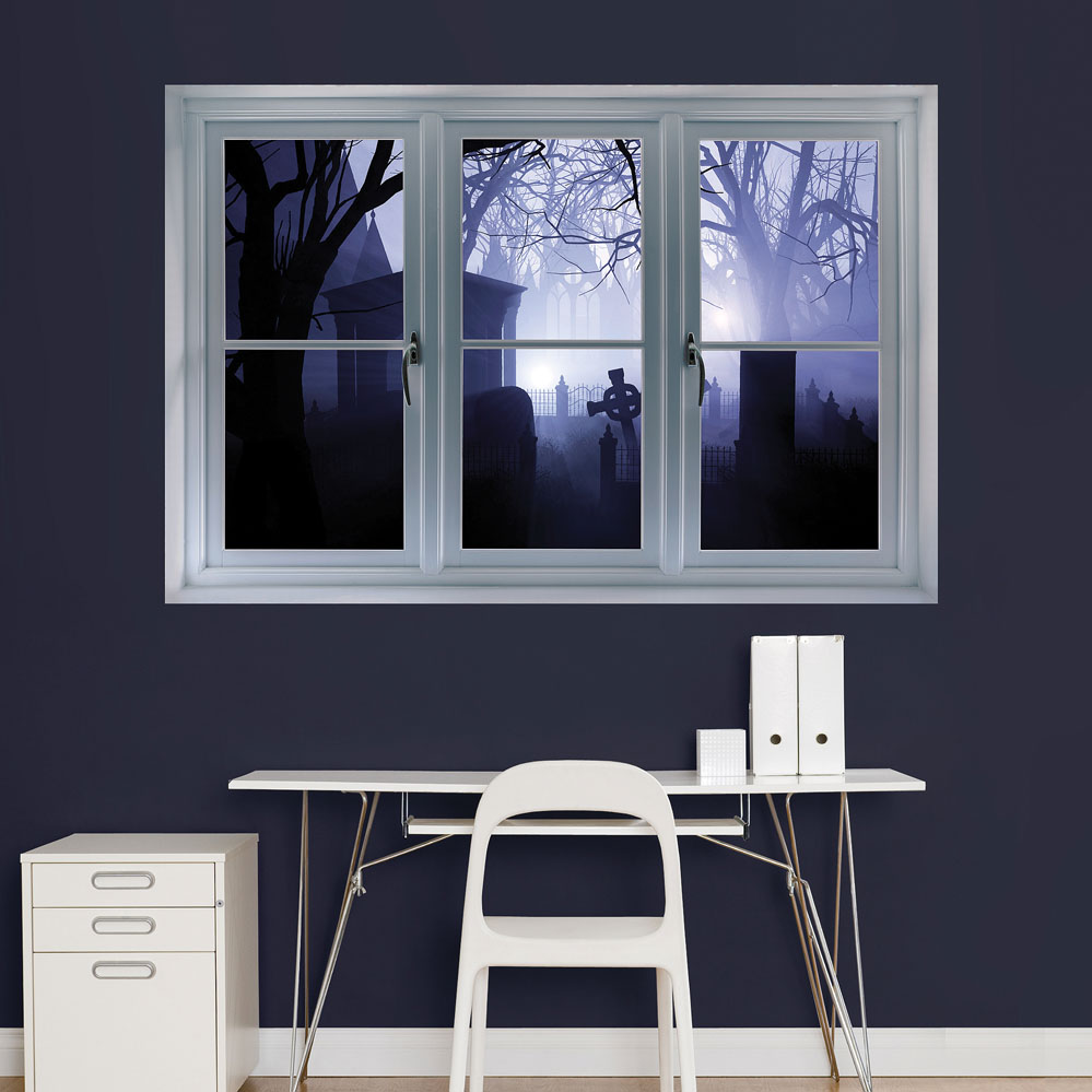 Graveyard: Instant Window REALBIG Wall Decal