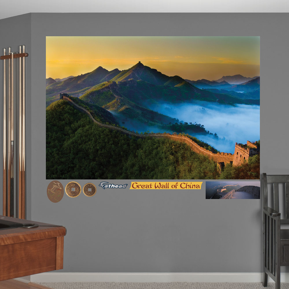 Great wall of china mural realbig wall decal for Chinese wall mural