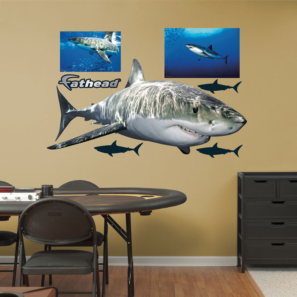 Great White Shark REALBIG Wall Decal