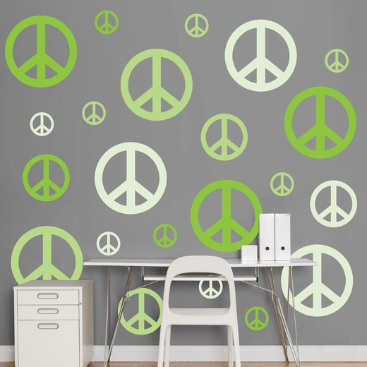 Green Peace Signs REALBIG Wall Decal