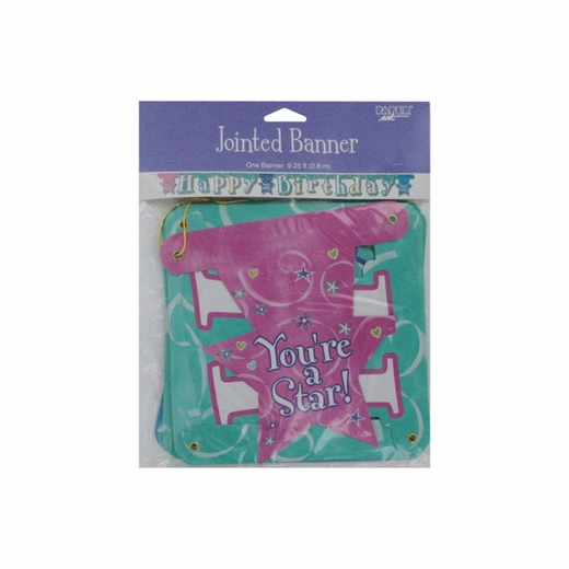 """""""Happy Birthday"""" Jointed Banner For Girls"""