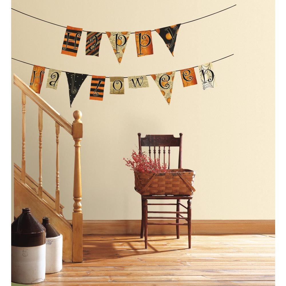 Happy Halloween Pennants Decal
