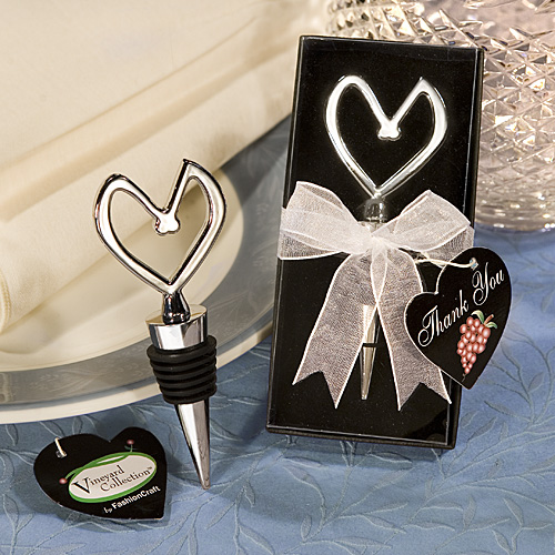 Heart Themed Wine Stoppers