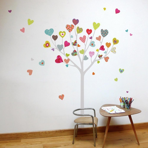 Heart Tree Transfer Decal