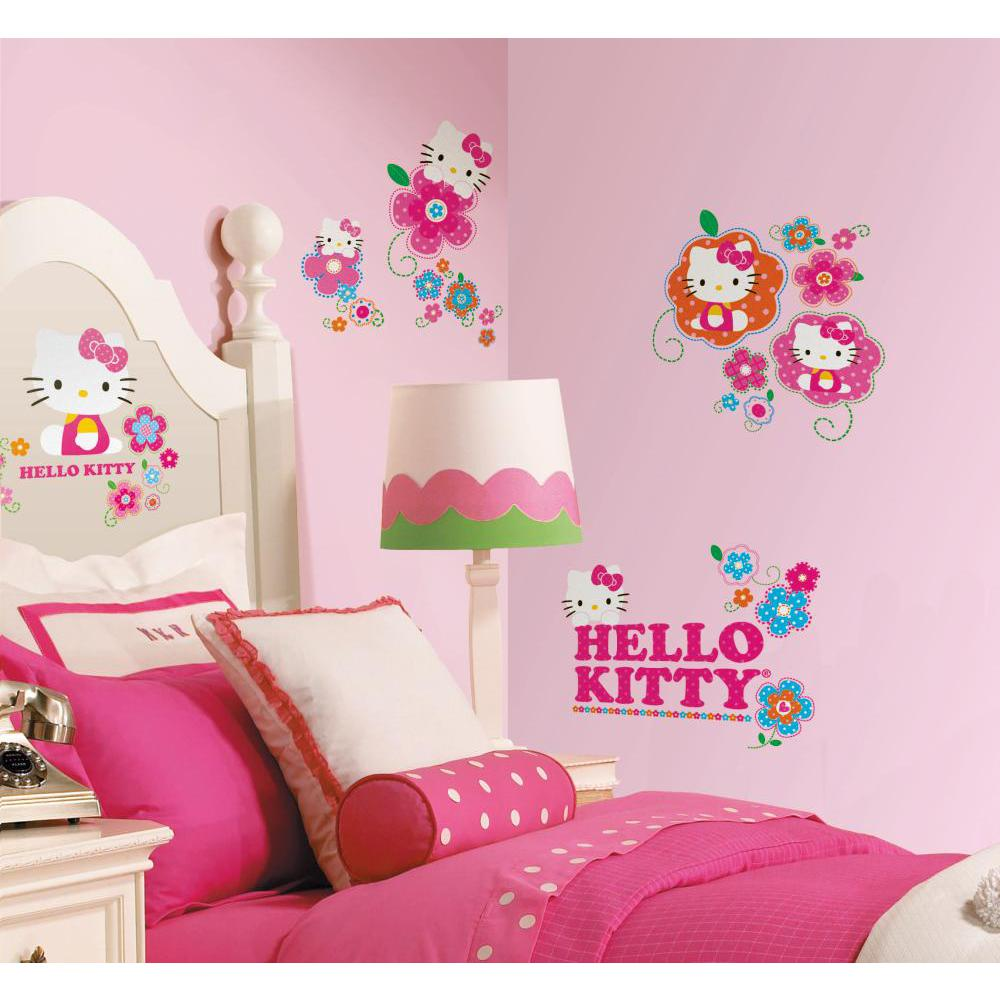 Hello Kitty-Floral Boutique Peel And Stick Decal
