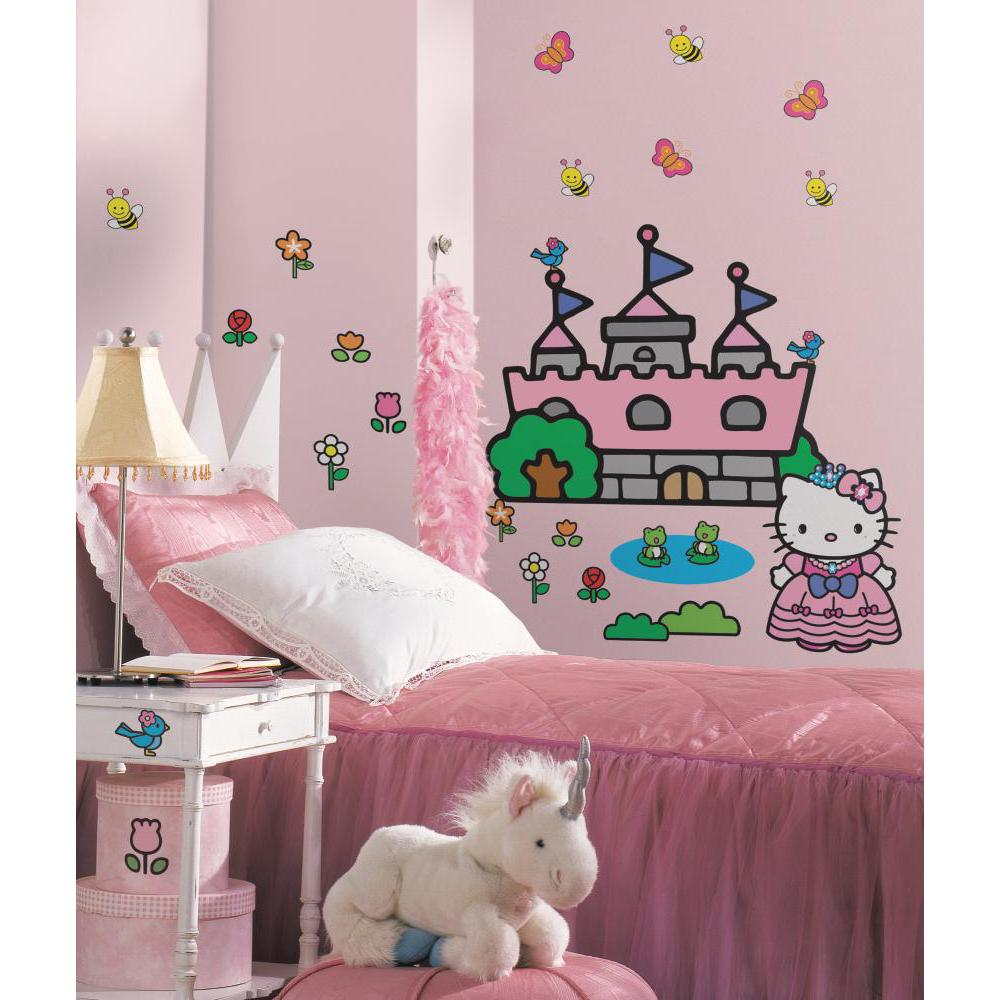 Hello kitty princess castle giant wall decal - Princesse kitty ...