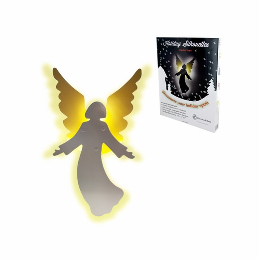Holiday Angel Light-Up Silhouette