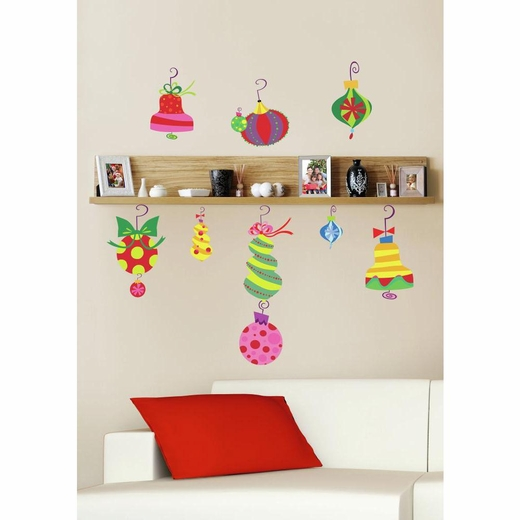Holiday Ornaments Giant Decal