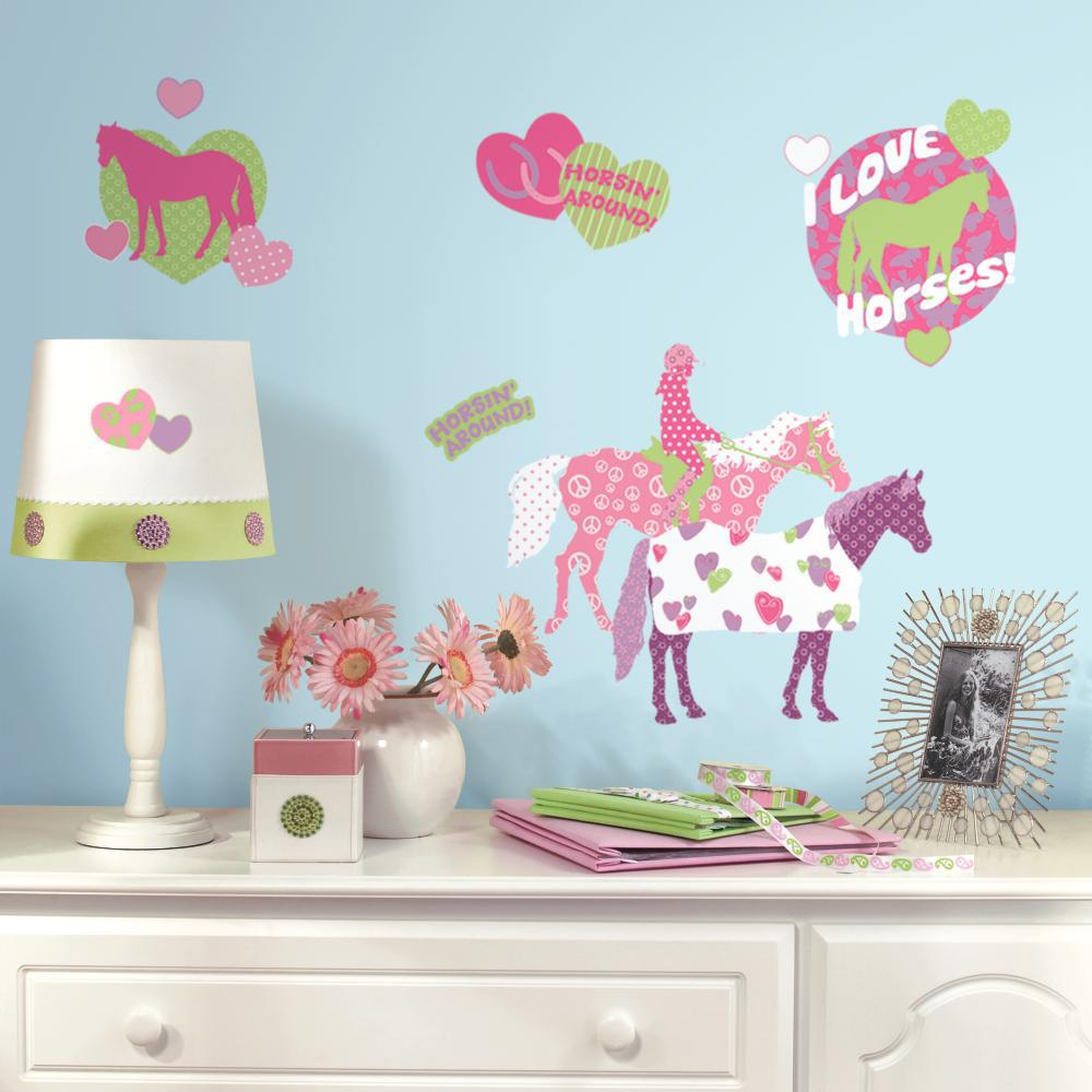 Horse Crazy Peel And Stick Decal