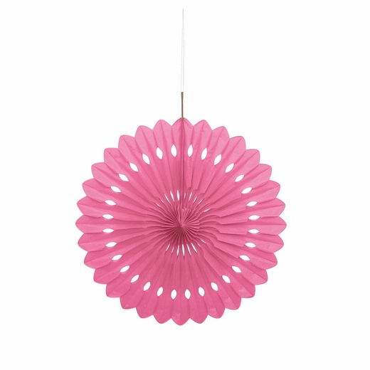 "Hot Pink 16"" Tissue Fan Decoration"