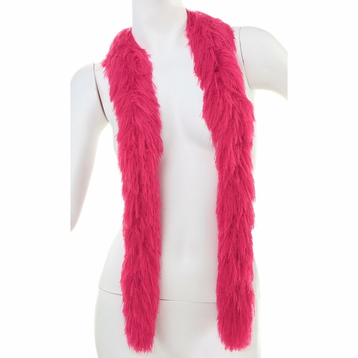 Hot Pink Faux Fur Boa (6', 190 grams)