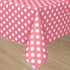 Hot Pink Plastic Table Cover With White Polka Dots - Rectangle