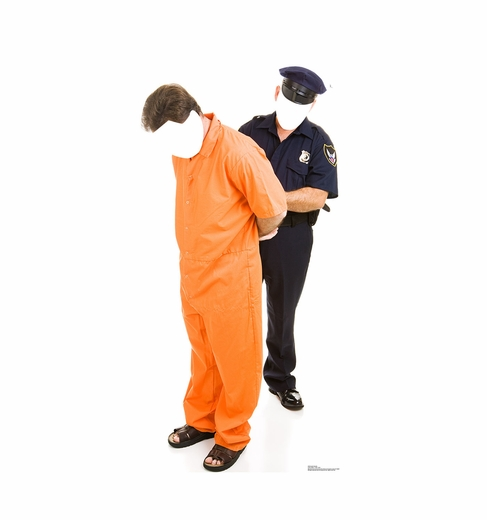 Inmate and Police Officer Standin