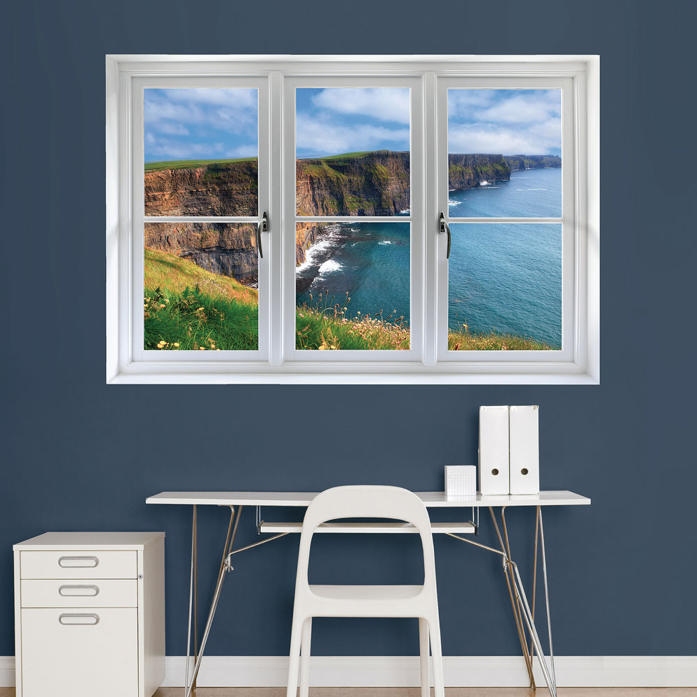 Irish Cilffs: Instant Window REALBIG Wall Decal
