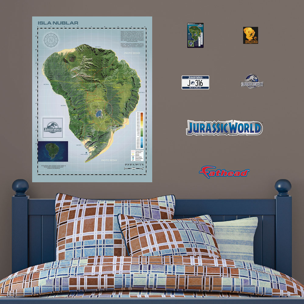 Isla Nublar Map Fathead Wall Decals