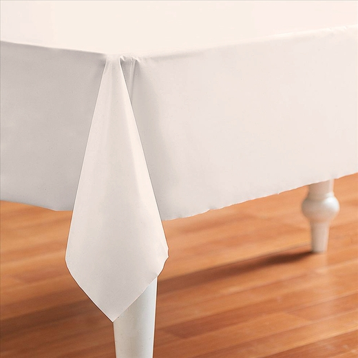 Ivory Plastic Table Cover - Rectangle