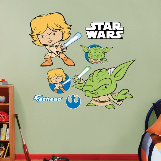 Jedi Luke Skywalker / Yoda Pop Duo Wall Decal