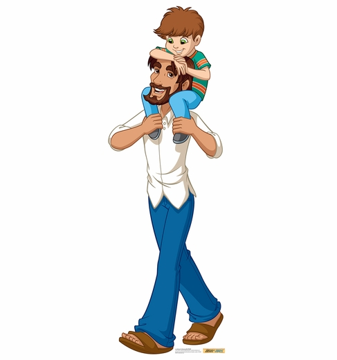 Jesus in Jeans with Child Cardboard Cutout