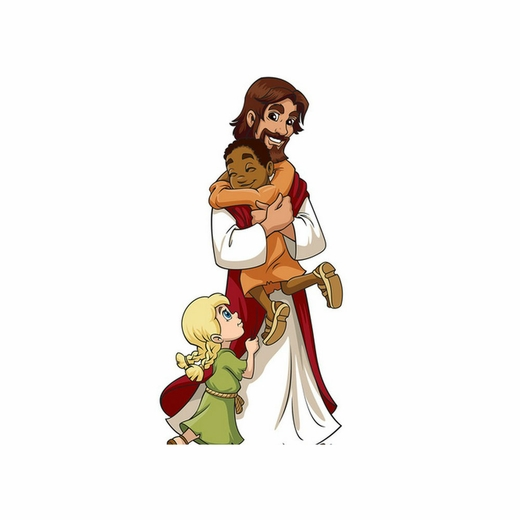 Jesus with Children Cardboard Cutout
