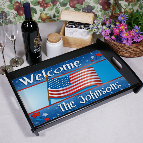 July 4th Celebration Personalized Serving Tray