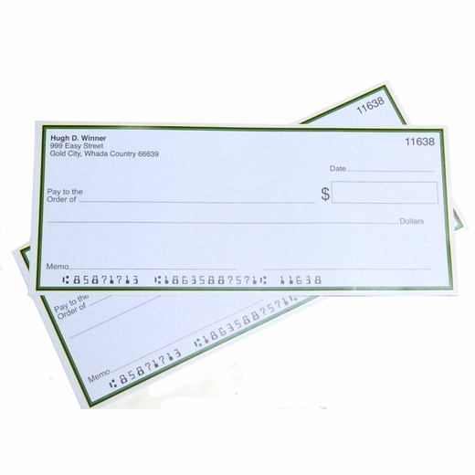 Jumbo Fake Checks