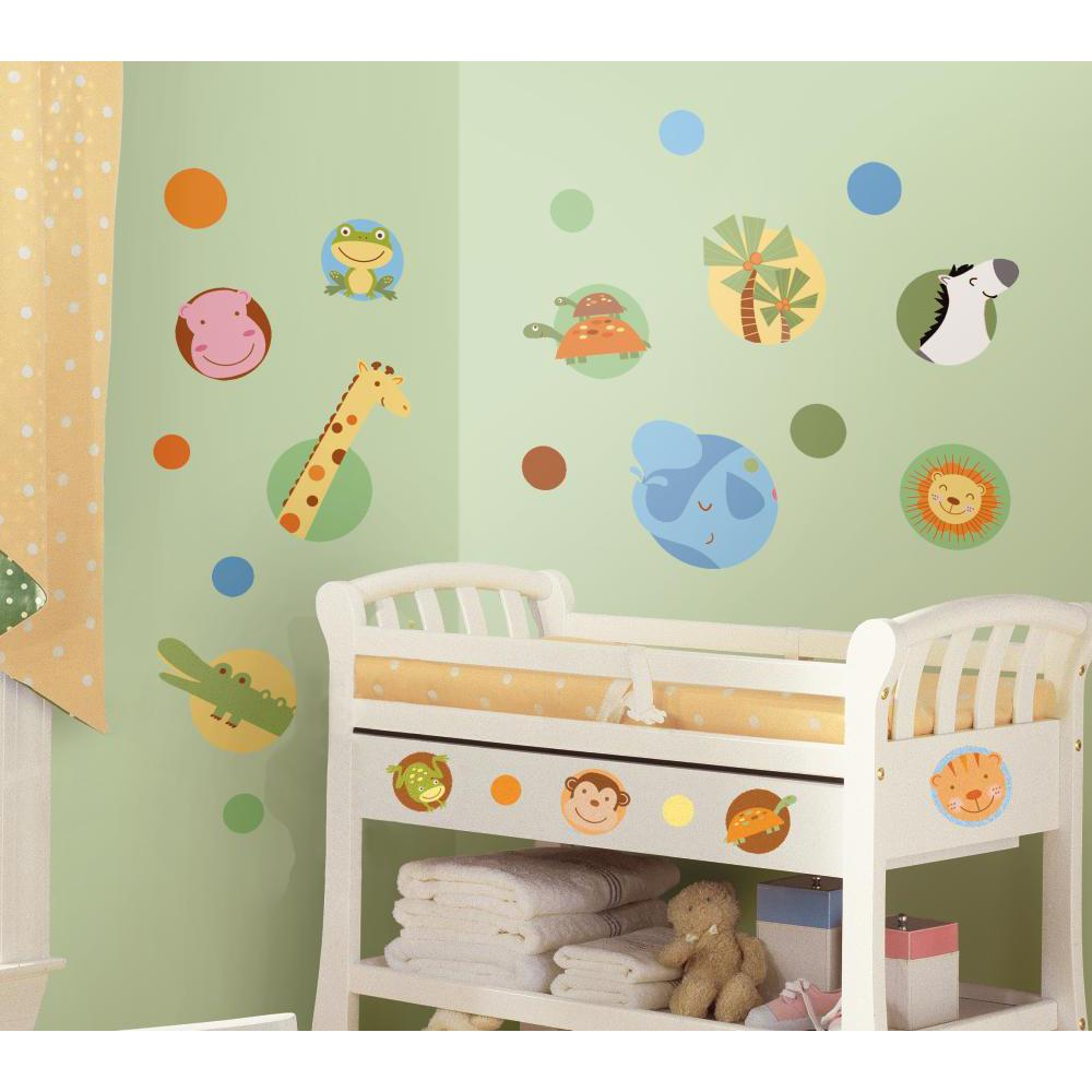 Jungle Animal Polka Dot Peel And Stick Decal