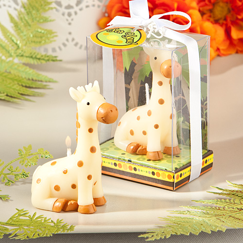 Jungle Critters Collection Baby Giraffe Candles