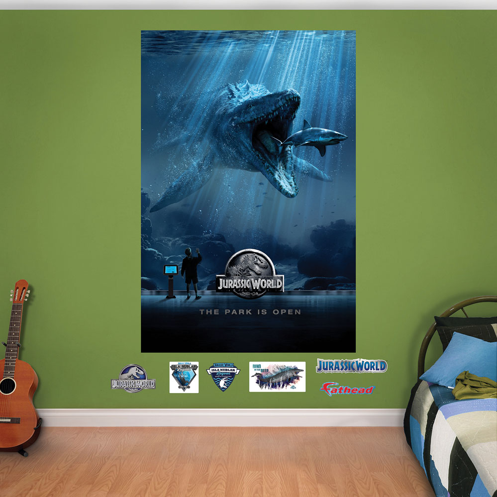 Jurassic World Aquarium Mural Fathead Wall Decals