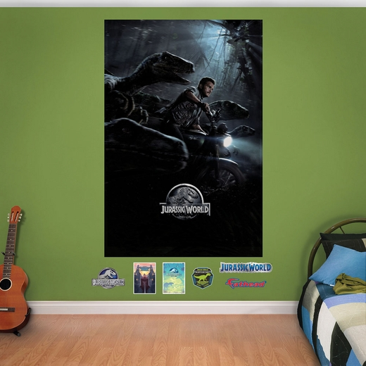 Jurassic World Chase Mural Fathead Wall Decals
