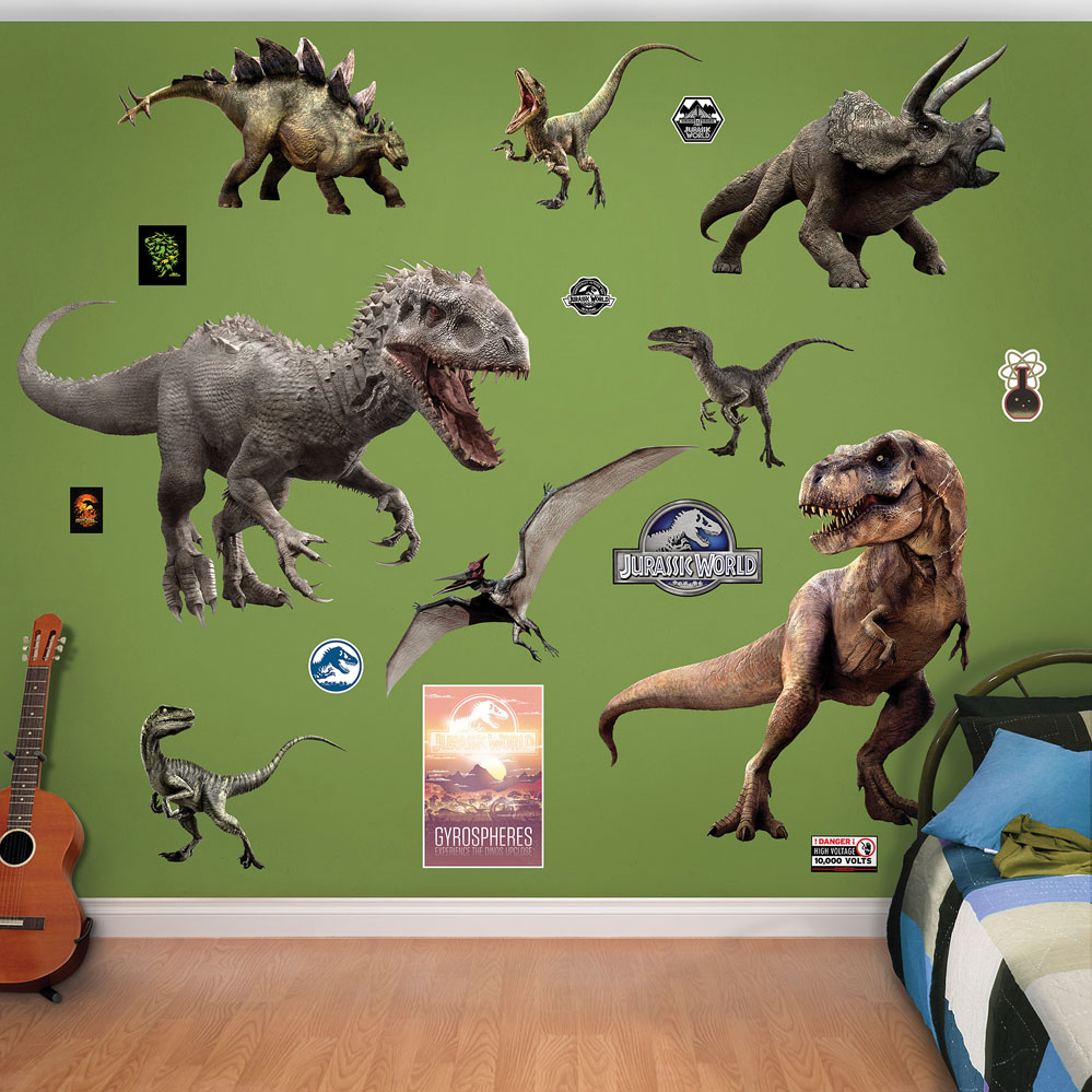 Jurassic World Dinosaurs Collection Decals