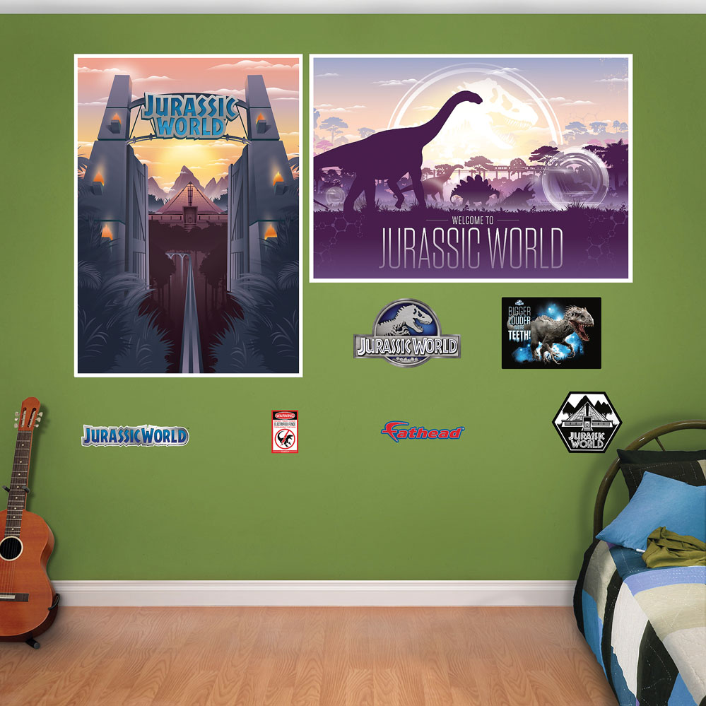 Jurassic World Souvenir Poster Murals Decals