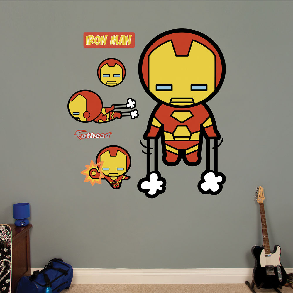 sc 1 st  Party Supplies Delivered & Kawaii Iron Man REALBIG Wall Decal
