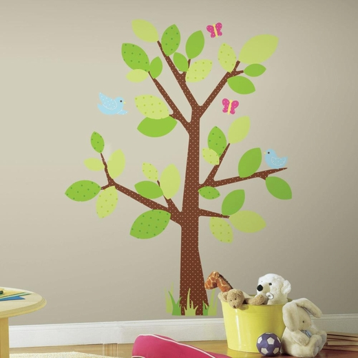 Kids Tree Peel And Stick Giant Wall Decal