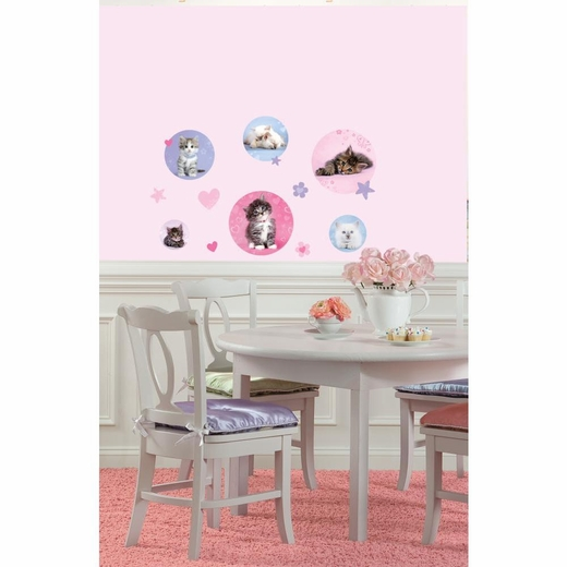 Kitty Dots Peel And Stick Decal