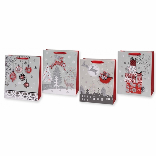 Large Metallic Christmas Pop Up Bags