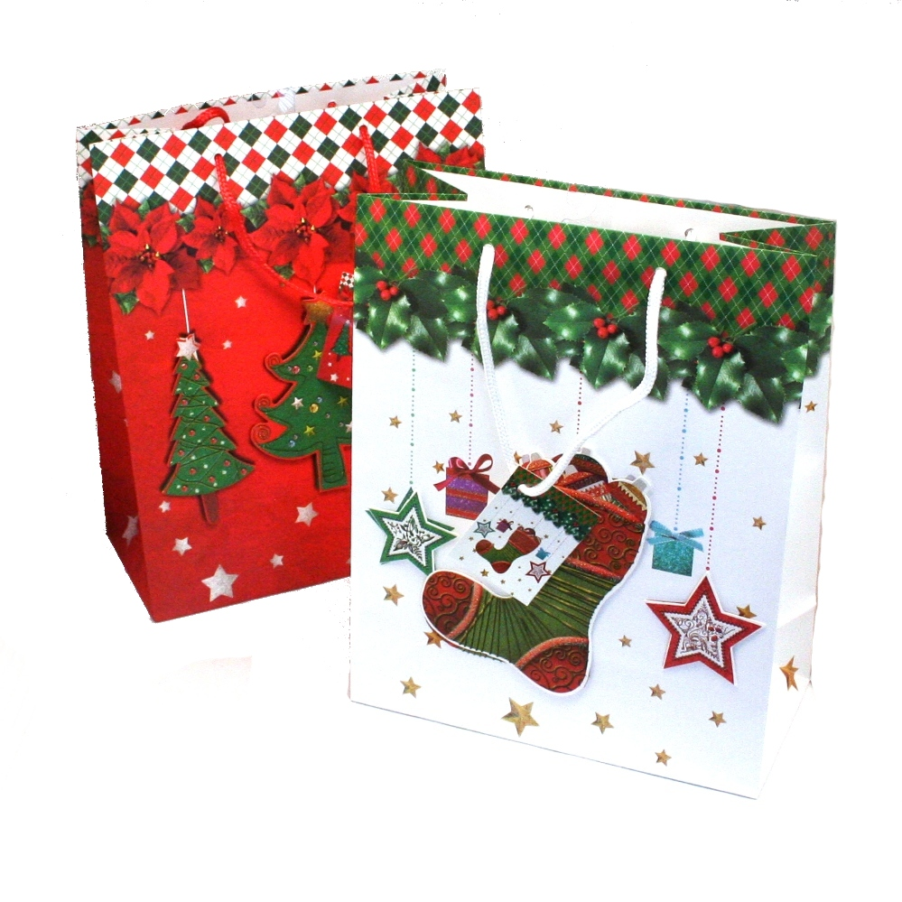 Christmas Gift Bags.Large Pop Up Christmas Gift Bags