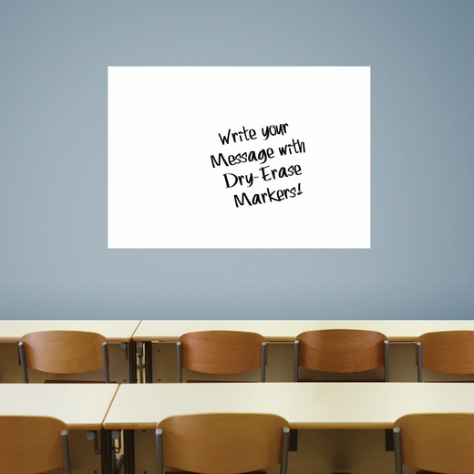 Large White Dry Erase Fathead 54x36 Wall Decal