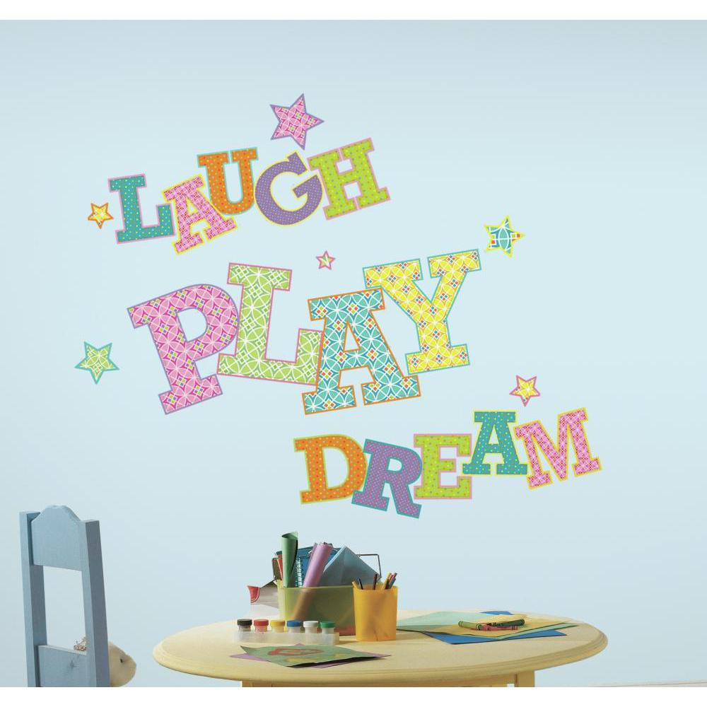 Laugh Play Dream Giant Decal
