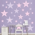 Lavender And Pink Stars REALBIG Wall Decal