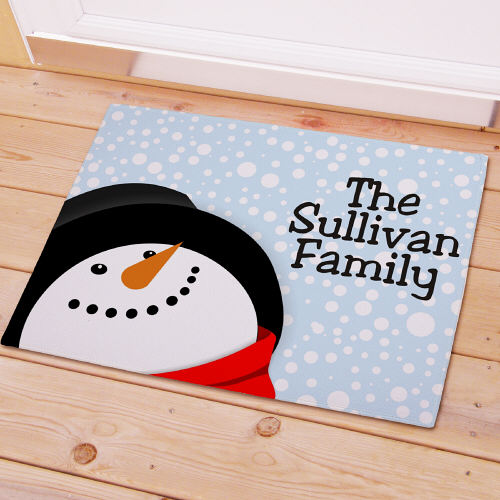 Let It Snow Personalized Welcome Doormat