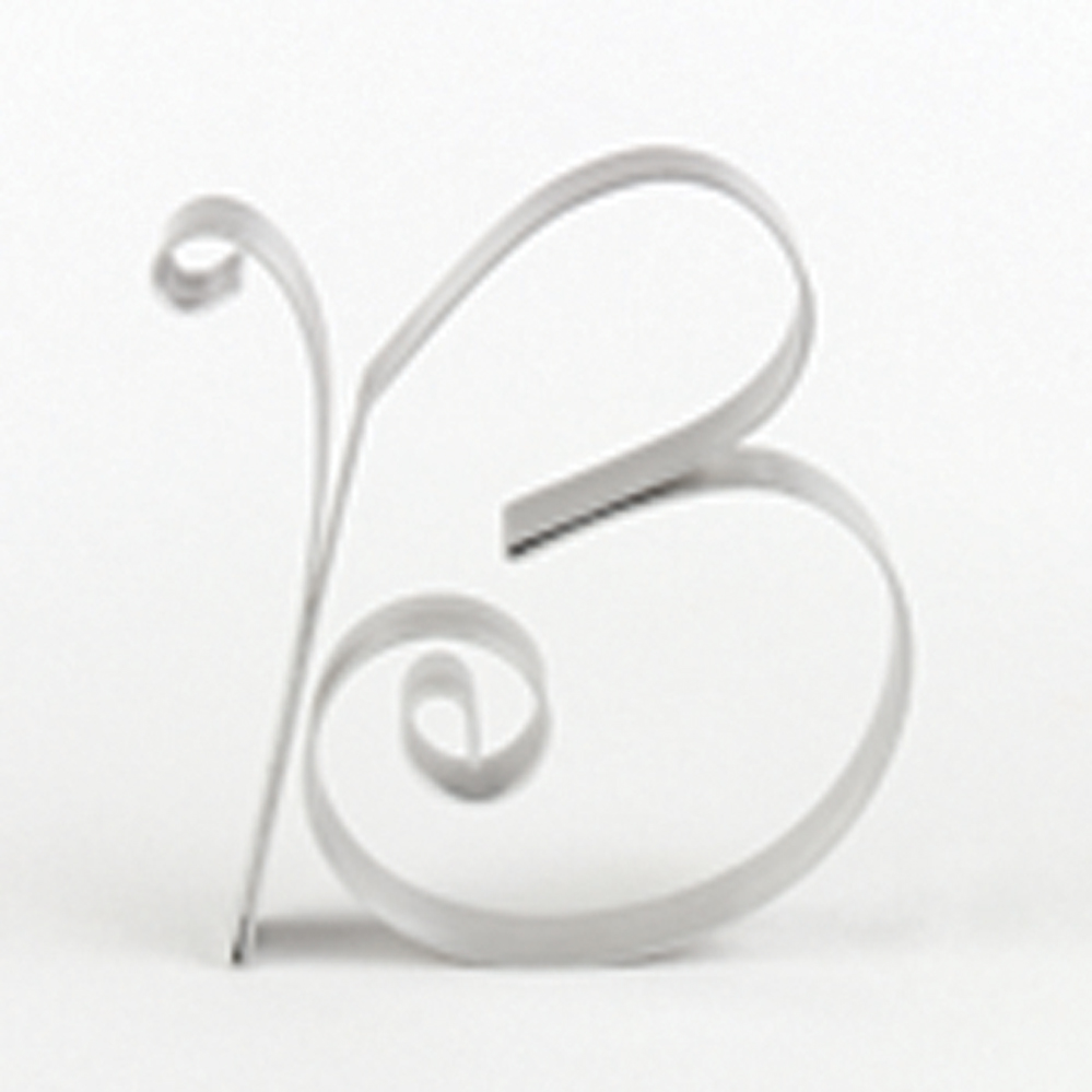 "Letter ""B"" Metal Letter Cake Top - 5"" Scroll"