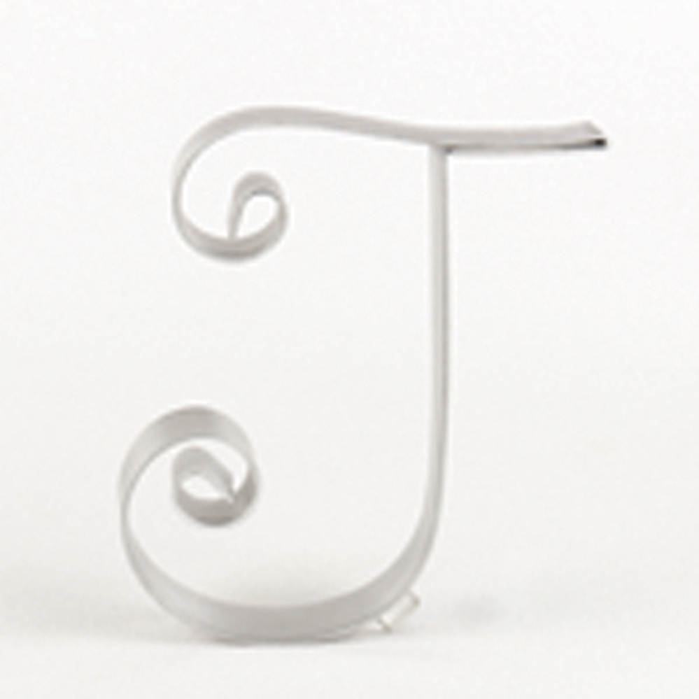 "Letter ""TA"" Metal Letter Cake Top - 5"" Scroll"